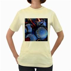 Spheres With Horns 3d Women s Yellow T Shirt