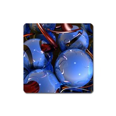 Spheres With Horns 3d Square Magnet