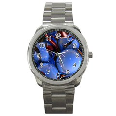 Spheres With Horns 3d Sport Metal Watch