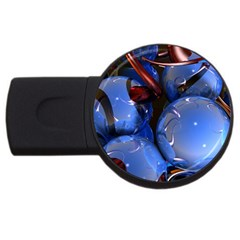Spheres With Horns 3d Usb Flash Drive Round (4 Gb)