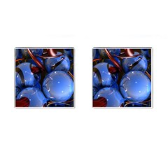 Spheres With Horns 3d Cufflinks (square)