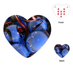 Spheres With Horns 3d Playing Cards (heart)
