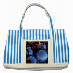 Spheres With Horns 3d Striped Blue Tote Bag