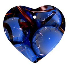 Spheres With Horns 3d Heart Ornament (two Sides)