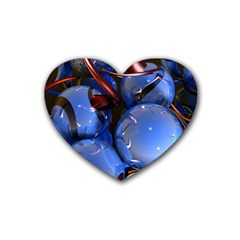 Spheres With Horns 3d Heart Coaster (4 Pack)