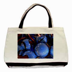 Spheres With Horns 3d Basic Tote Bag (two Sides)