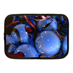 Spheres With Horns 3d Netbook Case (medium)