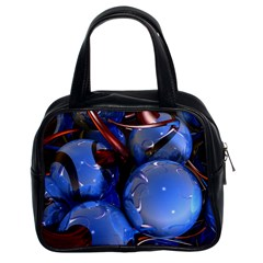 Spheres With Horns 3d Classic Handbags (2 Sides)
