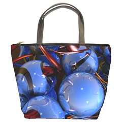 Spheres With Horns 3d Bucket Bags