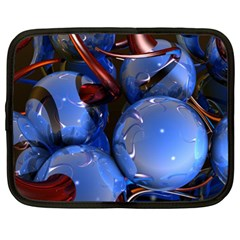 Spheres With Horns 3d Netbook Case (xl)