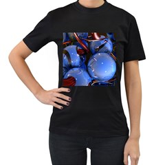 Spheres With Horns 3d Women s T Shirt (black)