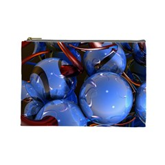 Spheres With Horns 3d Cosmetic Bag (large)