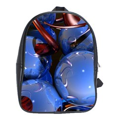 Spheres With Horns 3d School Bags(large)