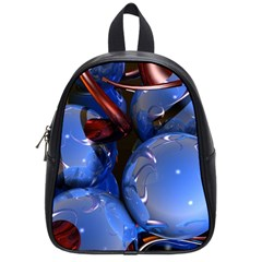 Spheres With Horns 3d School Bags (small)