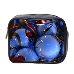 Spheres With Horns 3d Mini Toiletries Bag 2 Side