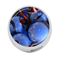 Spheres With Horns 3d 4 Port Usb Hub (one Side)