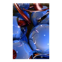 Spheres With Horns 3d Shower Curtain 48  X 72  (small)