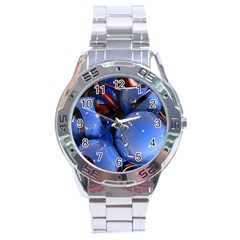 Spheres With Horns 3d Stainless Steel Analogue Watch