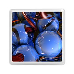 Spheres With Horns 3d Memory Card Reader (square)