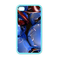 Spheres With Horns 3d Apple Iphone 4 Case (color)