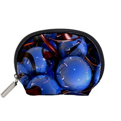 Spheres With Horns 3d Accessory Pouches (small)