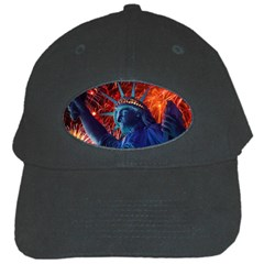Statue Of Liberty Fireworks At Night United States Of America Black Cap