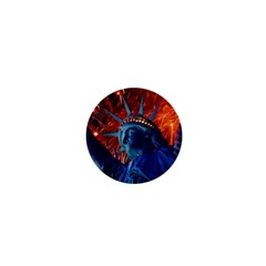 Statue Of Liberty Fireworks At Night United States Of America 1  Mini Magnets