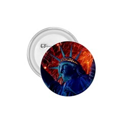 Statue Of Liberty Fireworks At Night United States Of America 1 75  Buttons