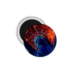 Statue Of Liberty Fireworks At Night United States Of America 1 75  Magnets