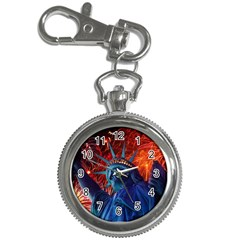 Statue Of Liberty Fireworks At Night United States Of America Key Chain Watches
