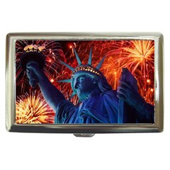 Statue Of Liberty Fireworks At Night United States Of America Cigarette Money Cases