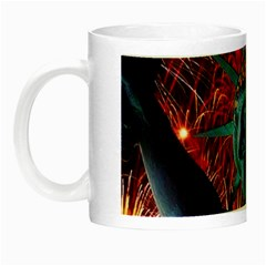 Statue Of Liberty Fireworks At Night United States Of America Night Luminous Mugs