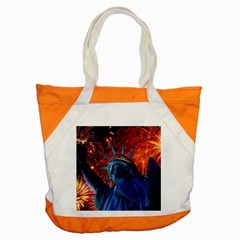 Statue Of Liberty Fireworks At Night United States Of America Accent Tote Bag