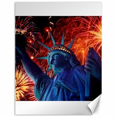Statue Of Liberty Fireworks At Night United States Of America Canvas 18  X 24