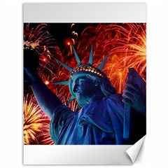 Statue Of Liberty Fireworks At Night United States Of America Canvas 36  X 48