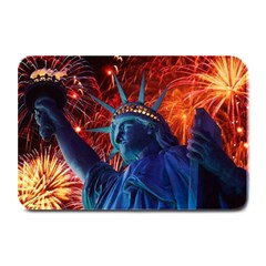 Statue Of Liberty Fireworks At Night United States Of America Plate Mats
