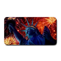 Statue Of Liberty Fireworks At Night United States Of America Medium Bar Mats