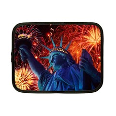 Statue Of Liberty Fireworks At Night United States Of America Netbook Case (small)