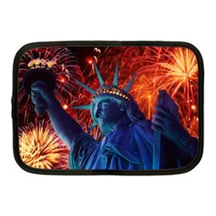Statue Of Liberty Fireworks At Night United States Of America Netbook Case (medium)