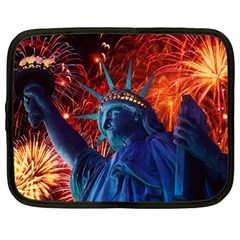 Statue Of Liberty Fireworks At Night United States Of America Netbook Case (large)