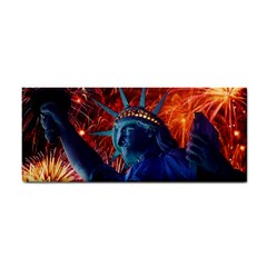 Statue Of Liberty Fireworks At Night United States Of America Cosmetic Storage Cases
