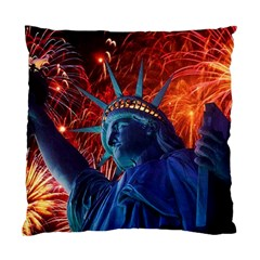 Statue Of Liberty Fireworks At Night United States Of America Standard Cushion Case (one Side)