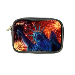 Statue Of Liberty Fireworks At Night United States Of America Coin Purse