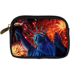 Statue Of Liberty Fireworks At Night United States Of America Digital Camera Cases