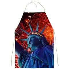 Statue Of Liberty Fireworks At Night United States Of America Full Print Aprons