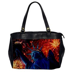 Statue Of Liberty Fireworks At Night United States Of America Office Handbags