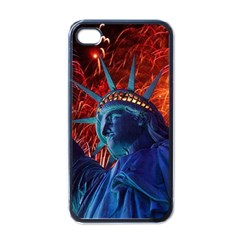 Statue Of Liberty Fireworks At Night United States Of America Apple Iphone 4 Case (black)