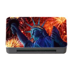 Statue Of Liberty Fireworks At Night United States Of America Memory Card Reader With Cf