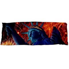 Statue Of Liberty Fireworks At Night United States Of America Body Pillow Case Dakimakura (two Sides)