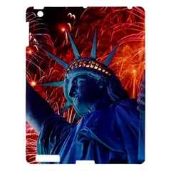 Statue Of Liberty Fireworks At Night United States Of America Apple Ipad 3/4 Hardshell Case